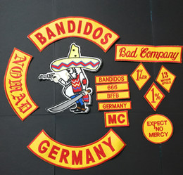 germany patch Australia - NEW ARRIVED 14PCS SET BANDIDOS GERMANY NOMADS EMBROIDERED ACCESSORIES FOR CLOTHING GARMENTS PATCHES GOODS SELLERS MOTORCYCLES BIKER PATCHES