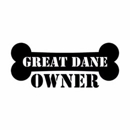 $enCountryForm.capitalKeyWord Australia - HotMeiNi Wholesale 20pcs lot 15CM*6.3CM Car Styling Great Dane Owner Bone Fashion Car Stickers