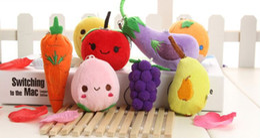 $enCountryForm.capitalKeyWord Australia - Hanging Plush Fruit Vegetables Dolls Plush Keychain Stuffed Toys Soft Key Chain Pendant for Cell Phone Backpack Wallet Decoration
