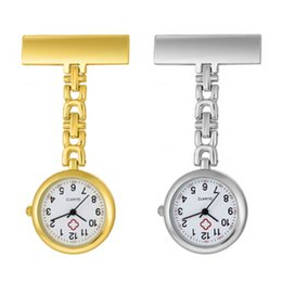 $enCountryForm.capitalKeyWord NZ - Shellhard 1pc Stainless Steel Nurse Watch Portable Tunic Clip-on Brooch Analog Quartz Medical Fob Pocket Watches 2 Colors