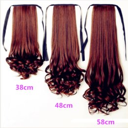 Long Length Hair Styles NZ - Manufacturer wholesale hairpiece ponytail female long curly hair band style pear flower big wave long and short paragraph periwig ponytail