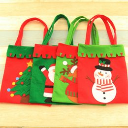 Christmas Gift Home NZ - Non Woven Christmas Gift Bag Santa Claus Candy Bag Handbag Home Party Decoration Xmas Kids Gift 42*21 cm Christmas Decor C1026