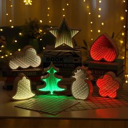 Discount flower tunnels - 3D Night Light Creative Novelty Tunnel LED Wall Lamp Pineapple Decorative Moon Star Cloud Flower Desk Lighting For Bedro