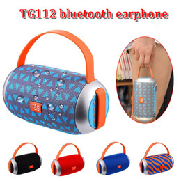 bluetooth mp3 player running 2020 - TG112 portable fabrics subwoofers bluetooth v4.2 wireless stereo sports bluetooth speaker super bass running music MP3 p