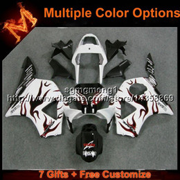 $enCountryForm.capitalKeyWord Australia - 23colors+8Gifts red flames+white motorcycle panels for HONDA CBR954RR 2002 2003 CBR 954 RR 02 03 ABS Plastic Fairing