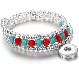 $enCountryForm.capitalKeyWord Australia - Wholesale Fashion 18mm Snaps Buttons Noosa Bead Bangle Bracelet Fit Noosa Chunks 18mm Button Bracelet DIY Jewelry Accessory