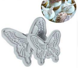 $enCountryForm.capitalKeyWord UK - Cake Baking DIY Tools 2pcs Set Fondant Butterfly Mold Cake Cutter Cookies Sugar Craft Decorating Tool A171