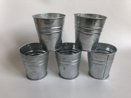 Metal Planter Boxes NZ - Galvanized planters and pots Small Nursery pots Mini Succulents Pots Tin Boxes flowerpots D8XH8CM SF-048