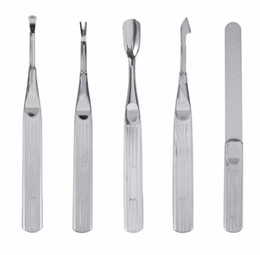 file cuticle remover Australia - Stainless Steel Foot File Cuticle Spoon Pusher Dead Skin Fork Callus Rasp Remover Professional Manicure Pedicure Tool Set