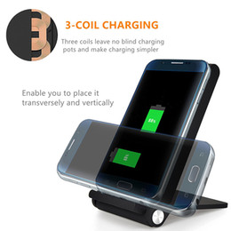 Discount foldable charger - 3 Coils Foldable Wireless Charger Fast Qi Wireless Charging Pad for Samsung Note 8 iPhone X 8 Plus and All Qi-Enabled De