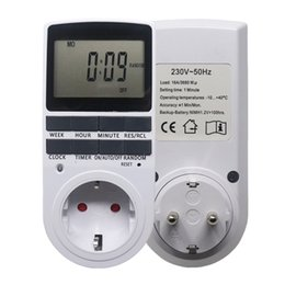 Electronic Outlets UK - Electronic Digital Timer Switch EU Plug Kitchen Outlet 230V 50HZ 7 Day 12 24 Hour Programmable Timing SocketElectronic Digital Timer Switch