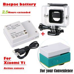 battery for xiaomi yi Australia - amera Photo Sports Action Video Cameras Accessories New for Xiaomi yi camera battery Xiaoyi External bacpac battery +Enlarged Waterproof ...