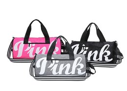 Chinese Large Pink Letter Duffle Travel Bags for Women Girls Sports Gym  Yoga Carry On Luggage 4bf9b9bfd63a7