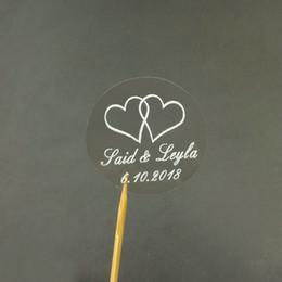 $enCountryForm.capitalKeyWord Australia - Party DIY Decorations Personalized Custom Name Heart Wedding Round Transparent White Stickers Envelope Seals 50PCS Party DIY Decorations