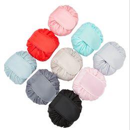 $enCountryForm.capitalKeyWord Australia - Lazy Drawstring Cosmetic Bag Fashion Travel Makeup Bag Toy Organizer Make Up Case Storage Pouch Toiletry Beauty Kit Box Wash Bag JLE32