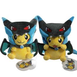 Discount mega x - Fashion 2 Style Pikachu Cosplay Mega Charizard X Plush Toys 25cm Kawaii Pikachu Plush Soft Stuffed Animals Toys For Kids