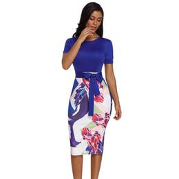 3b46bad991d Vestido de manga corta con estampado de manga corta para mujer de Bowknot  púrpura para mujer de moda