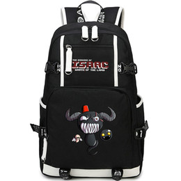 black computer game Australia - Rebirth backpack Binding of Isaac daypack Wrath of the lamb schoolbag Game rucksack Sport school bag Outdoor day pack
