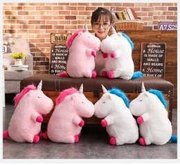 Wholesale 50cm Kawaii Unicorn Plush Toy Doll with Blanket Soft Animal Horse Toy Stuffed Unicorn Unicornio Peluche Toys For Kids Girls Gift MMA681