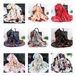 Luxury beach toweLs online shopping - Fashion cm Silk Styles Women Designer Scarf Wraps Hijab Bandana Luxury Designer Headband Scarf Table Blanket Beach Towel Home Decor