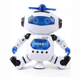 Best electronics for kids online shopping - Dancing Robot Rotating Space Musical Walk Lighten Electronic Toy Christmas Birthday Best Gifs For Kids Toys