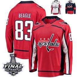eabdfab8e 2018 Stanley Cup Final Washington Capitals Stadium Series Jay Beagle Hockey Jerseys  83 Jay Beagle Stitched Jersey Custom Name Jersey