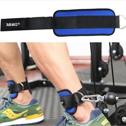 Support Strap Australia - 1PCS Fitness Adjustable D-Ring Ankle Straps Foot Support Ankle Protector Gym Leg Pullery with Buckle Sports Feet Guard