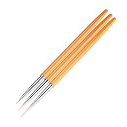 $enCountryForm.capitalKeyWord Australia - 3 Pieces   Set Of Gold Nail Art Line Pen Brush Professional High Quality UV Gel Polish Skill 3D Design Nail Drawing Tool Kit