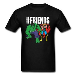 hulk printed t shirts Canada - Free Shipping Men's Short Sleeve T Shirt Printed On Classic Thor And Hulk Marvel T-Shirt Hot Sale Tees For Men Custom Top Quality Tshirt