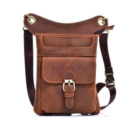 Genuine Leather Men Fanny Pack Thigh Drop Leg Bag Casual Motorcycle  Messenger Crossbody Shoulder Bags Travel wallet Waist Bags c8cdba153dd7f