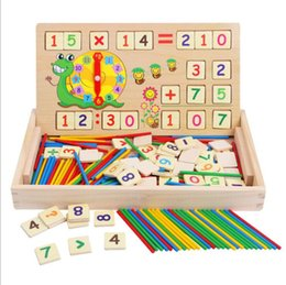 teaching aids for year UK - Kids Wooden Digital Intelligence Arithmetic Math Toys Baby Mathematics Counting Learning Toys for Children Teaching Aids