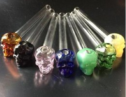 $enCountryForm.capitalKeyWord Australia - Hot Selling Colorful Great Pyrex 14cm Skull Glass Oil Burner Pipe Thick Color Glass For Oil Rigs Glass Water Pipe Free Shipping H22