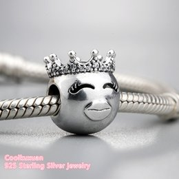 China 2018 Spring Authentic 925 Sterling Silver Princess Charm, Clear CZ Charm Beads Fit brand Charms Bracelet Diy Jewelry Making cheap cz beads suppliers