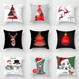 $enCountryForm.capitalKeyWord Australia - European and American Red Santa Claus Christmas tree pillow set custom made home decoration pillowcase pillow cover cushion cover