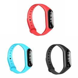 Wholesale Sleep Box NZ - New M3 0.87'' OLED Smart Bracelet Sport Wristband Heart Rate Blood Pressure Monitor IP67 Waterproof Fitness Tracker for IOS Android with Box