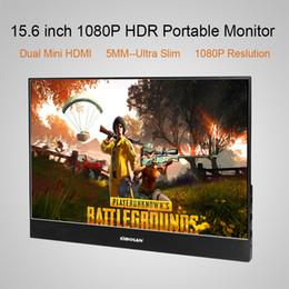 SIBOLAN NUEVO S3 15.6 pulgadas IPS LCD 1920 x 1080 Monitor portátil con entrada Mini Mini HDMI (5 mm de grosor)