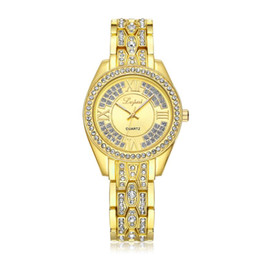 Brand Luxury Style Watch UK - LVPAI Brand Fashion Watch Women Luxury Retro Style Casual Quartz Wristwatch Gold Elegant Bracelet Business Watch Clock