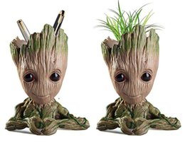 $enCountryForm.capitalKeyWord NZ - Baby Groot Flowerpot Planter Action Figures Guardians of The Galaxy Toy Tree Man Cute Model Toy Pen Holder Pot Christmas Gift Home Table