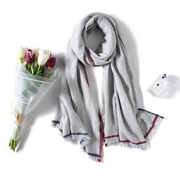 $enCountryForm.capitalKeyWord UK - 2018 new, pure cashmere shawl, border strips cashmere scarf, thin autumn and winter new, warm function, no skin irritation,