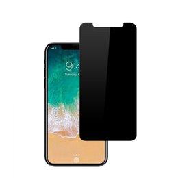 Для iPhone XR XS Max iPhone X 8 7 6 6 S Plus закаленное стекло конфиденциальности протектор экрана анти-шпион пленка для Samsung S7 S6 S5