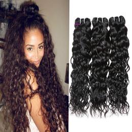 dyeable hair weave 2019 - Good Brazilian Body Loose Deep Wave Curly Hair Weft Kinky Straight Human Hair Bundles Peruvian Indian Malaysian Hair Ext