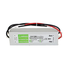 Used Power Supplies Australia - 10pcs DC 12V 10W Waterproof ip67 Electronic LED Driver Adapter Outdoor Use Power Supply Led Strips Lighting Transformer AC 90-250V