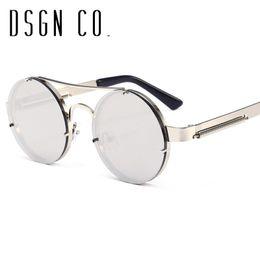 Old frames online shopping - DSGN CO Old School Retro Steampunk Sunglasses For Men And Women Round Designer Unisex Sun Glasses Color UV400