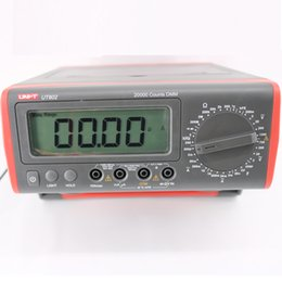 Digital Display volts amps online shopping - UNI T UT802 LCD Display Bench Type Digital Multimeters Volt Amp Ohm Capacitance Hz Counts Tester High Accuracy