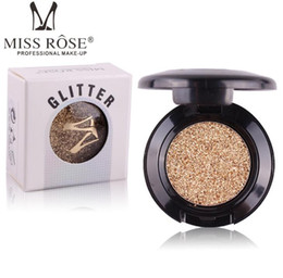 China Miss Rose Brand Glitters Single Eyeshadow Diamond Rainbow Make Up Cosmetic Pressed Glitter Eye Shadow Palette 24 Colors Wholesale suppliers