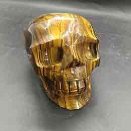 Crystal Heads Australia - Yellow tights eye Skull Crystal Krocodylite Heads CrossBones Glyptic candy Crania Natural Tumbled Stone Reiki Polished Crafts Gift Rough New
