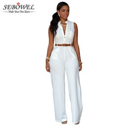 9596e0c83ff5 2017 S-XXL White Plus Size Jumpsuits And Rompers For Women Sleeveless Elegant  Jumpsuit Long Pants Party Casual Full Bodysuits