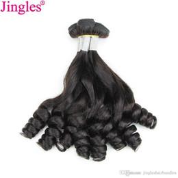 $enCountryForm.capitalKeyWord NZ - Jingleshair 9A Best Aunty Funmi Bouncy curly Raw Indian Remy Human hair bundles cuticle aligned 100 human virgin hair natural for sale black