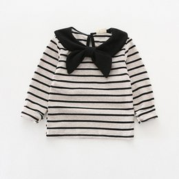 China 2018 INS NEW ARRIVAL Girls Kids shirt long Sleeve army design stripped shirts girl casual spring cotton shirt cheap design kid shirts suppliers