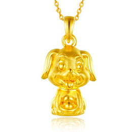 $enCountryForm.capitalKeyWord NZ - Chinese Style Hot Sell 3D Hard Gold 12 Zodiac Yuanbao Dog Gold Pendant Men and women Baby Benming Gift Pendant